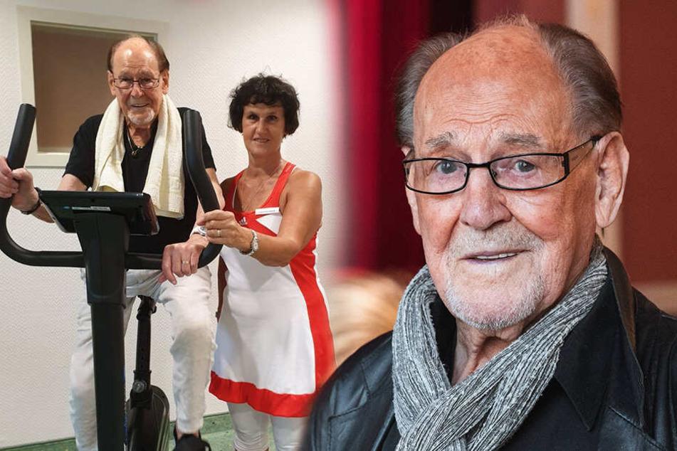 Herbert Köfer so fit wie nie! Er radelt und joggt sich gesund