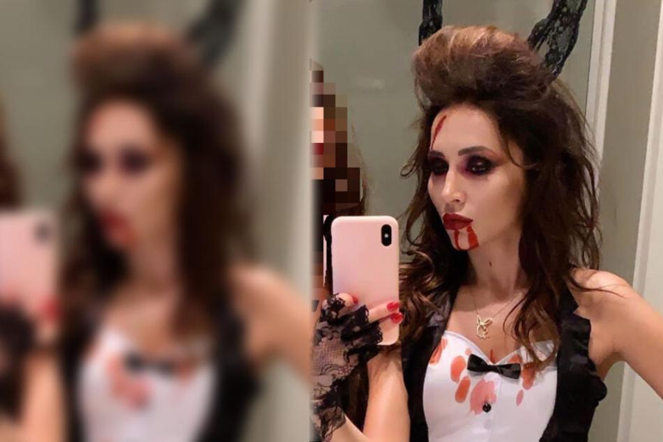 Dieser Instagram-Screenshot zeigt Model und Playmate Anastasiya Avilova als Halloween-Bunny.