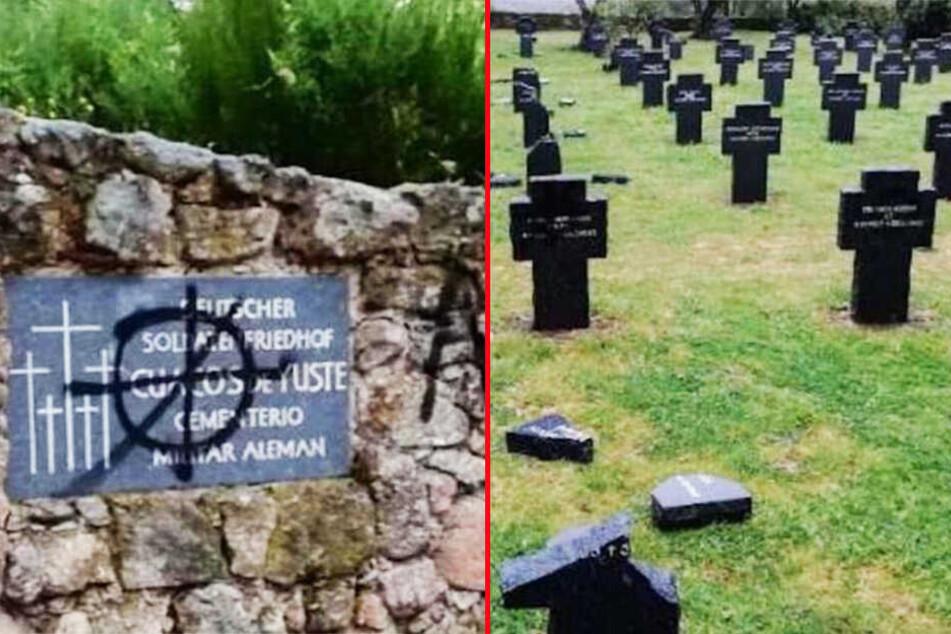Kreuze zerstört, Anti-Nazi-Parolen geschmiert: Mehrere deutsche Kriegsgräber geschändet