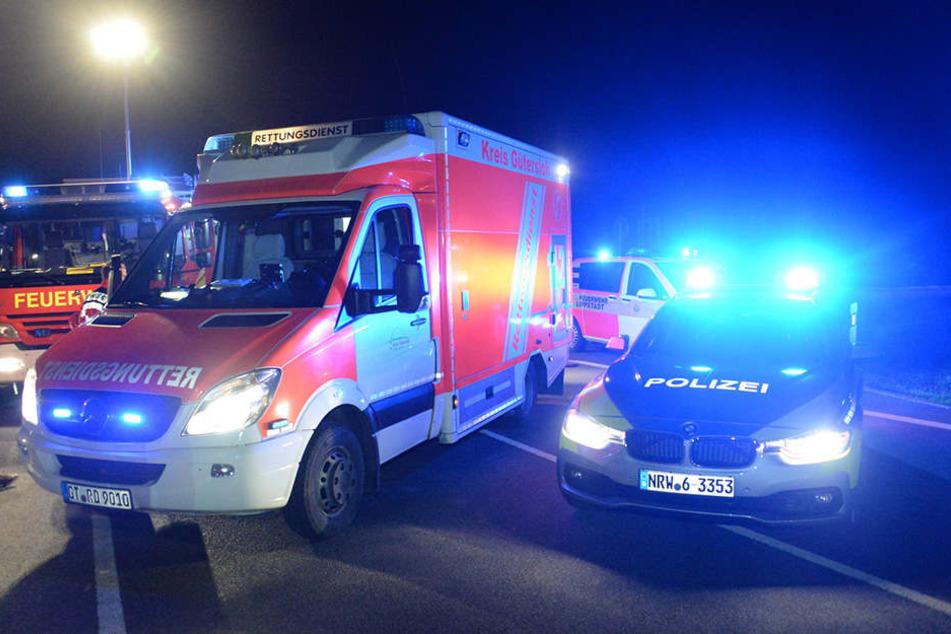 Die Feuerwehr und Polizei rückte mit einem Großaufgebot an. Sechs Menschen waren verletzt.