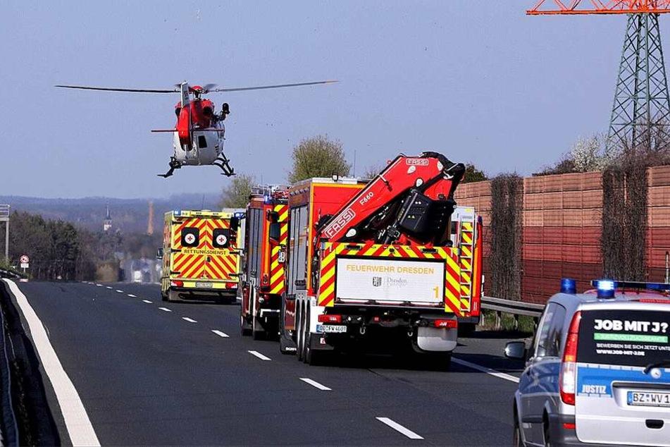 Ein Hubschrauber kam zum Einsatz.