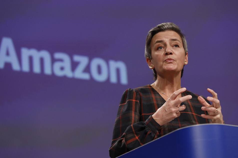 Margrethe Vestager, Vizepräsidentin der EU-Kommission, verlangt faire Wettbewerbsbedingungen auf der Amazon- Plattform.
