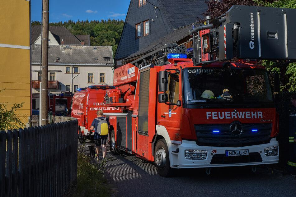 Schwelbrand: Feuerwehreinsatz im Erzgebirge