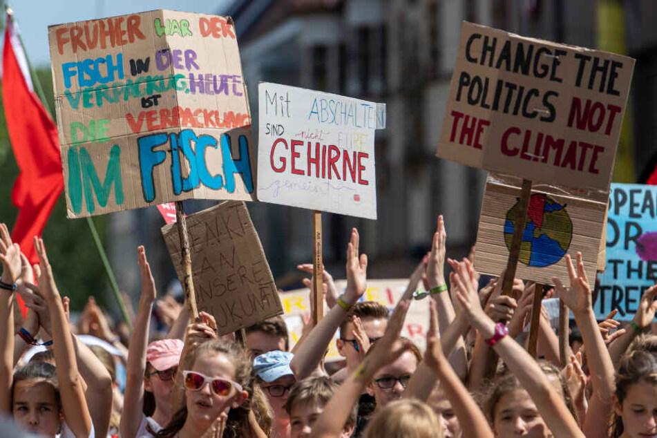 Teilnehmer der Demo in Freiburg.