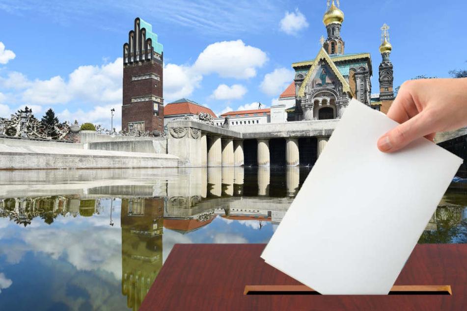 In Darmstadt stockte die Auszählung, da sich die Wahlhelfer verzählt hatten. (Fotomontage)