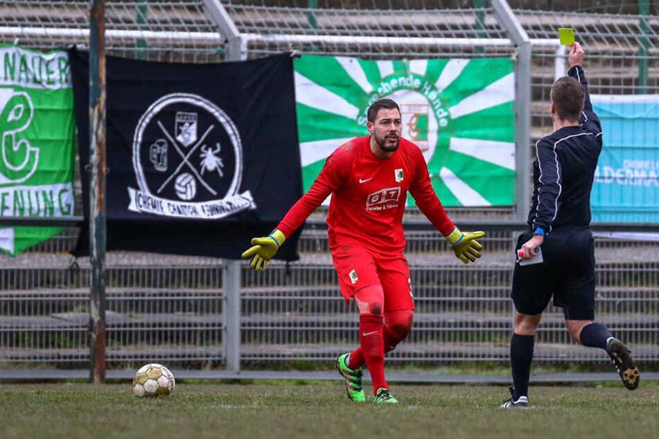 Beim Spiel gegen Bautzen hatte der 26-Jährige seine fünfte Gelbe Karte kassiert.