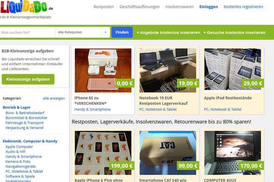 """Sieht fast so aus wie eBay-Kleinanzeigen, ist aber laut VZS eine Abo-Falle -  die Webseite """"LiQuiDaDo.de""""."""