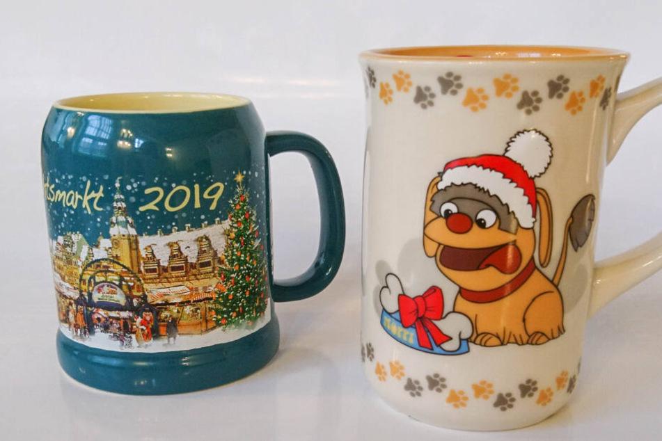 Das sind die beiden Tassen für den Leipziger Weihnachtsmarkt 2019.