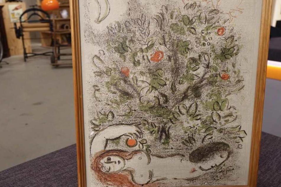 Die Lithographie von Marc Chagall kommt bei Bares für Rares unter dem Hammer.