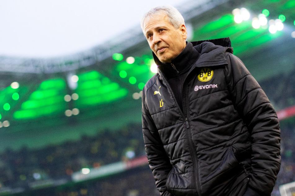 "BVB-Coach Lucien Favre war nach dem ""sehr schwer"" erkämpften Sieg erleichtert."