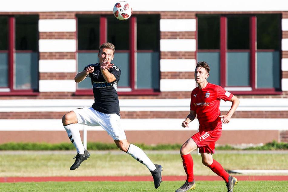 Christian Bickel (r.) erzielte das 1:0 für den FSV Zwickau.