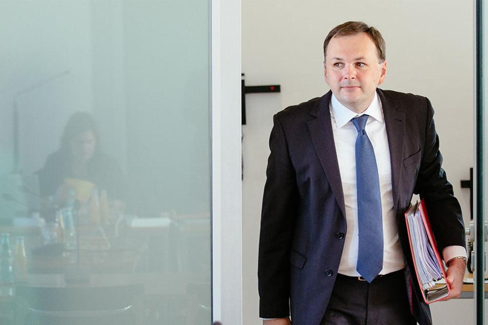 Linken-Chef André Schollbach kann Vorjohann einen Strich durch die Rechnung machen.
