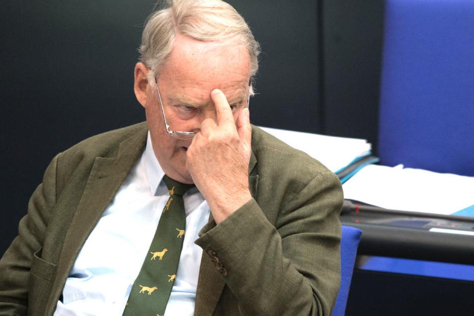 """Der Fraktionsvorsitzende der AfD im Bundestag Alexander Gauland (77) ist einer der Talk-Gäste bei """"Anne Will""""."""