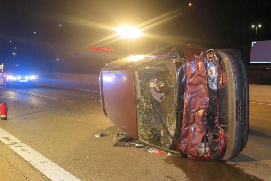 Alle vier Insassen des Toyota wurden bei dem Crash verletzt.