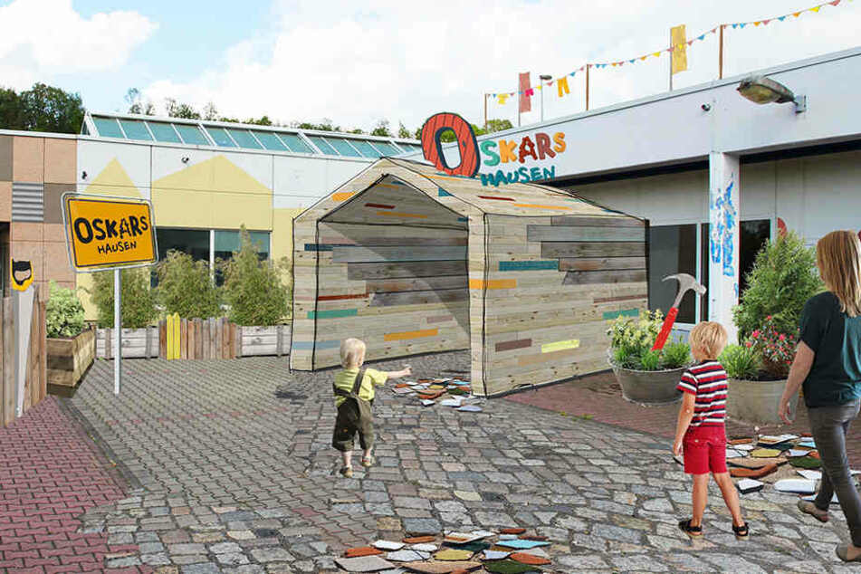 """So könnte es bald aussehen: Das Spieleland """"Oskarshausen"""" soll bereits im Herbst eröffnen."""