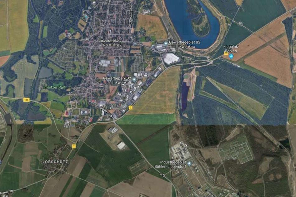 Der Unfall ereignete sich auf der B2 in Zwenkau, auf Höhe der S71.