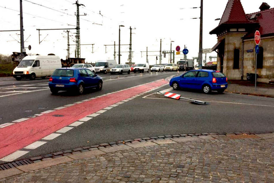 Schon 31 Mal musste dieses Stopschild nahe der Dresdner Innenstadt dran glauben.