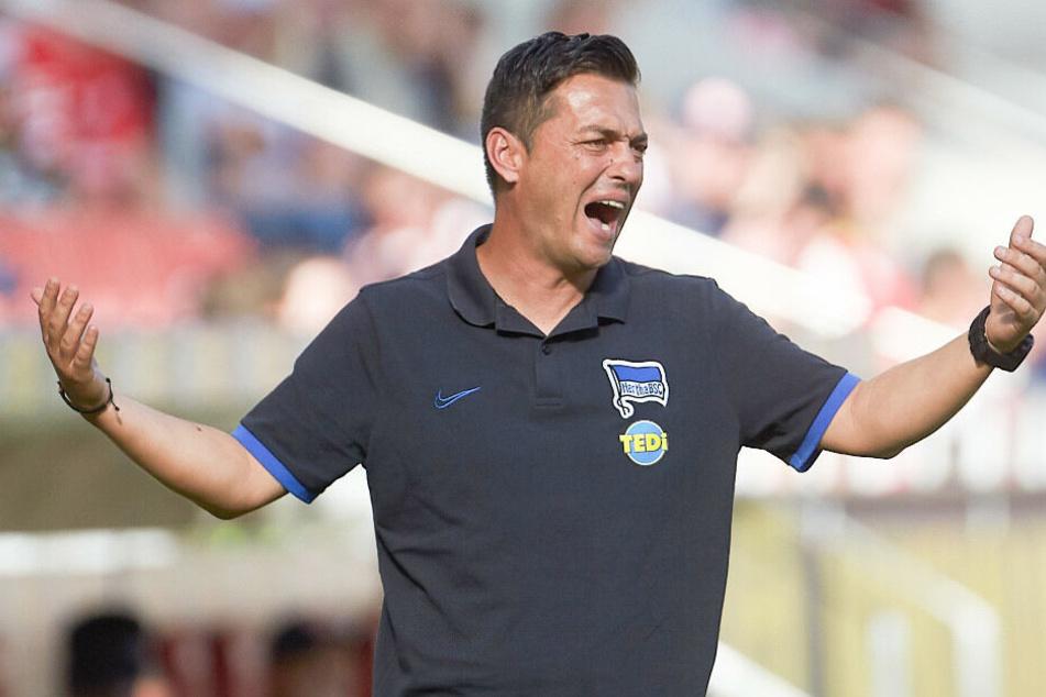 Hertha-Coach Ante Covic wartet noch immer auf den ersten Sieg in der Bundesliga.