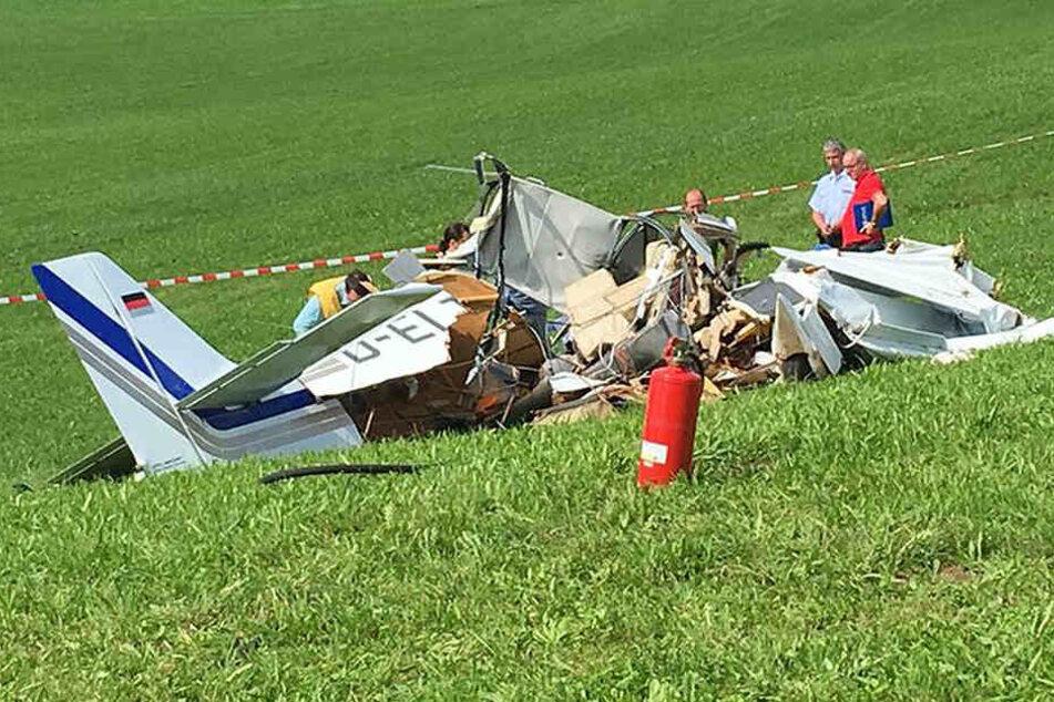 Alle drei Insassen dieser Propellermaschine sind bei dem Absturz ums Leben gekommen.