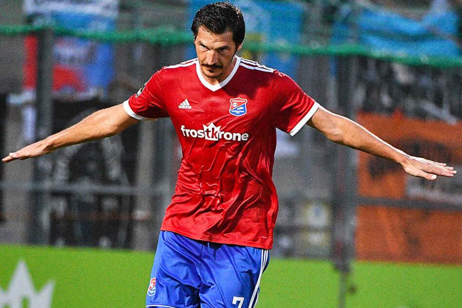 Dominik Stroh-Engel saß beim Karlsruher SC nur noch auf der Tribüne, jetzt trifft er regelmäßig für die SpVgg Unterhaching.