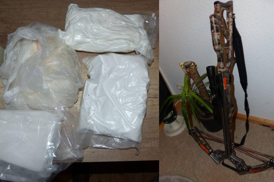 Neben Waffen fanden die Zollbeamten auch Rauschgift-Pakete.