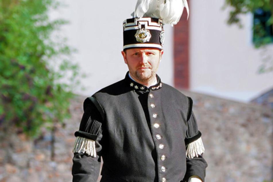 Heino Neuber (42) vom Landesverband der Bergmannsvereine pocht auf den erzgebirgischen Ursprung des Steigerliedes.