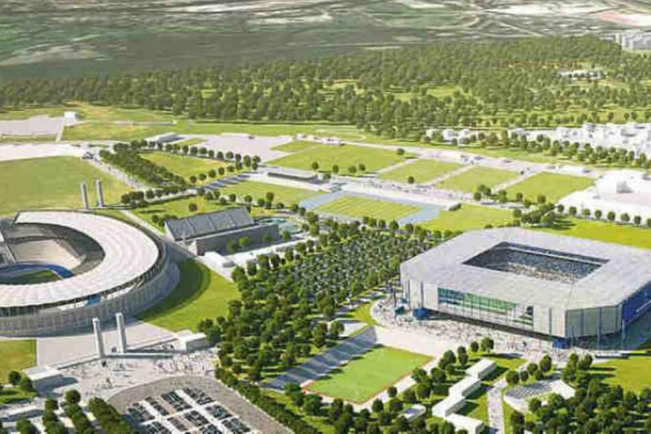 Hertha könnte womöglich bald direkt neben dem Olympiastadion eine neue Heimstätte haben.