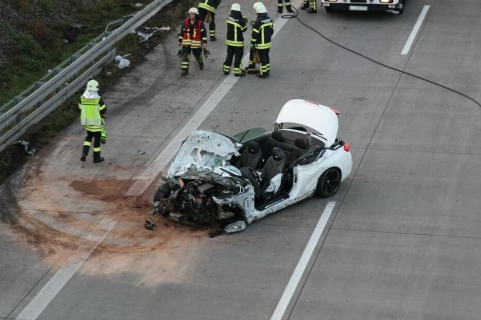 Verheerender Unfall auf der A14 bei Leipzig.