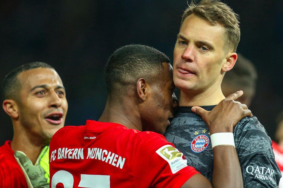 Die Verträge von Thiago (l-r), David Alaba und Manuel Neuer enden beim Bayern München.