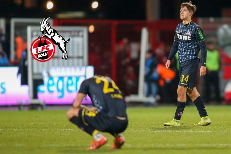 Böser Absturz auf Platz 18: Der 1. FC Köln ist abstiegsreif!