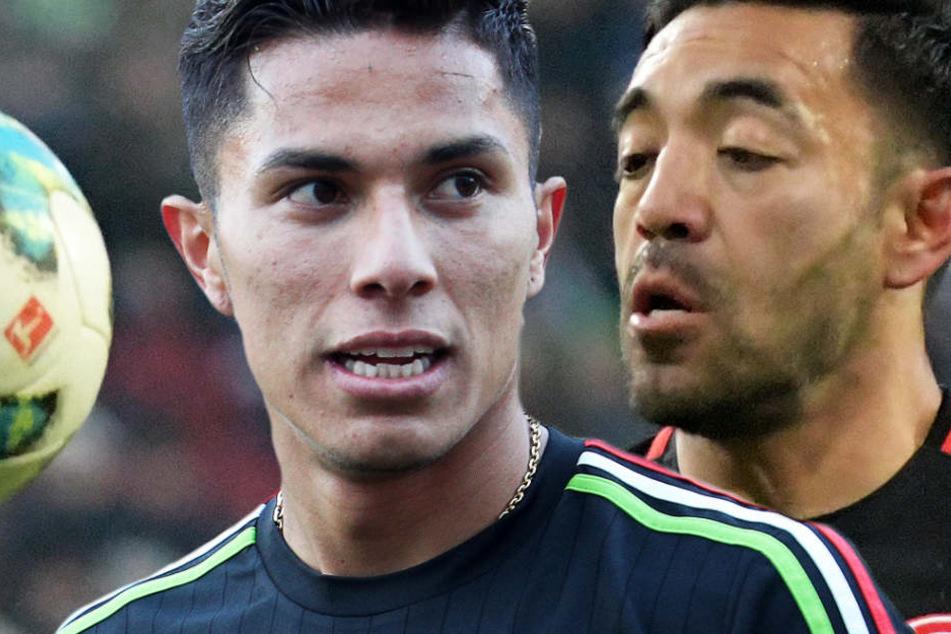 Carlos Salcedo (l.) und Marco Fabián gehören zum mexikanischen WM-Kader.