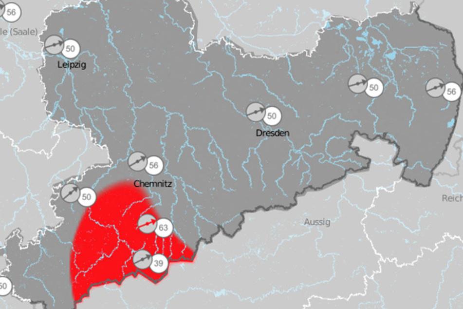 In Sachsen und Thüringen bleibt es auch am Wochenende stürmisch.