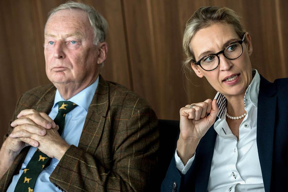 Alexander Gauland und Alice Weidel, Spitzenkandidaten der Alternative für Deutschland (AfD) für die Bundestagswahl.