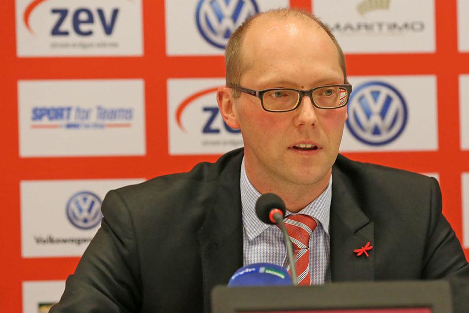 Tobias Leege, Vorstandssprecher beim FSV Zwickau.