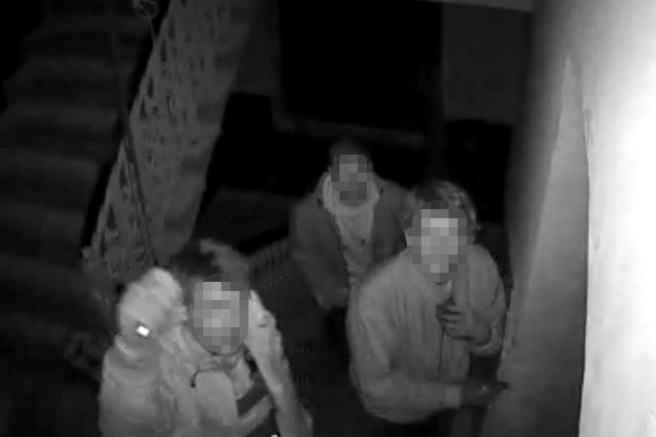 Die Überwachungskamera filmte die Täter.
