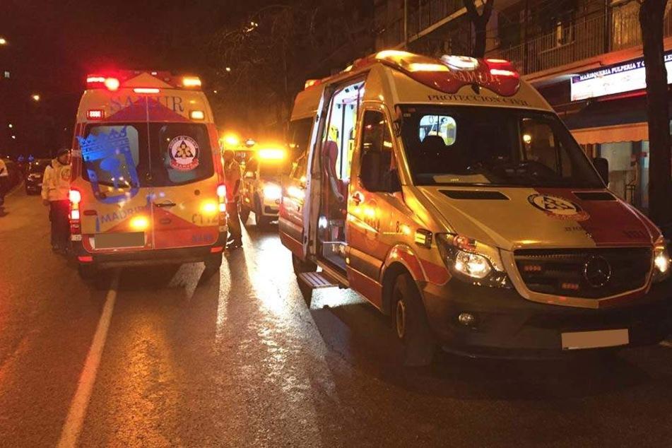Elf verletzte Besucher wurden in ein Krankenhaus gebracht.