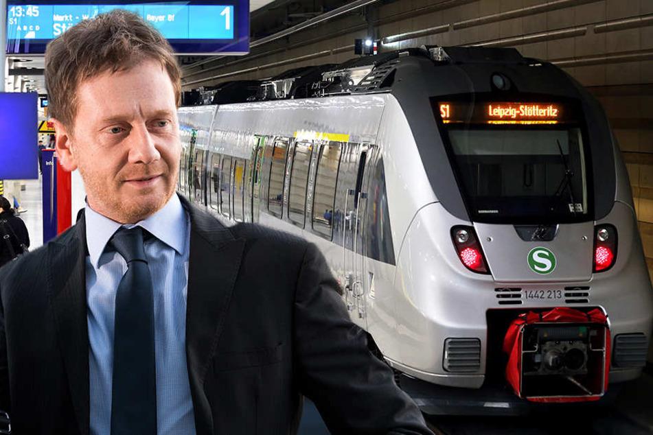 Michael Kretschmer ermutigt Leipzig, einen weiteren Tunnel zu planen.