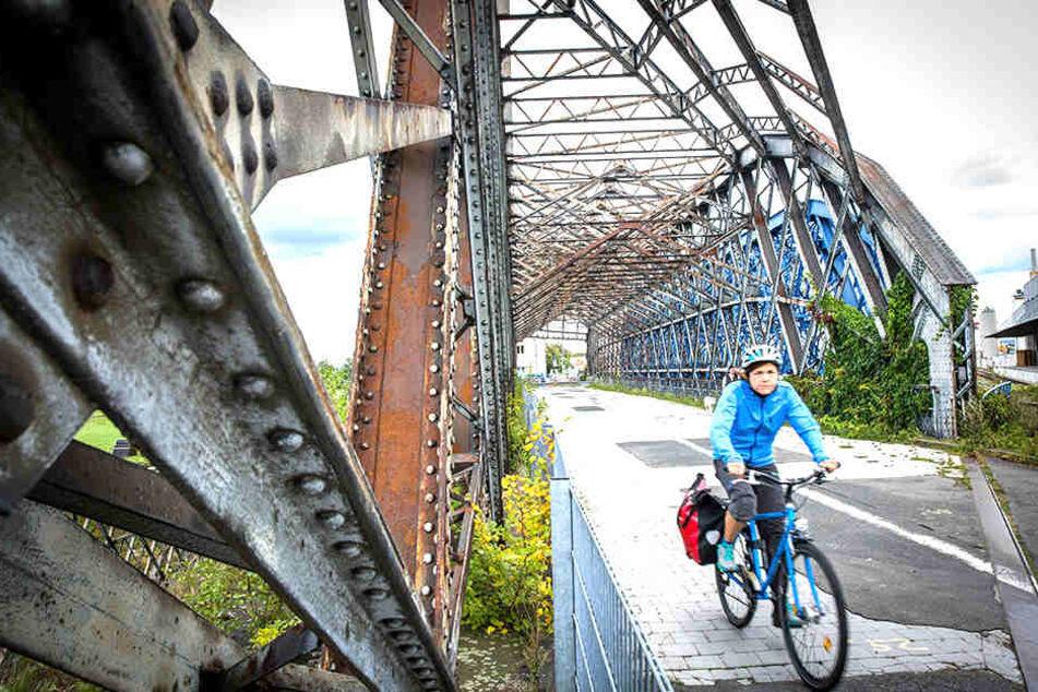 An der Hafenbrücke nagt der Rost! Ab Montag wird die Hafenquerung saniert, über die auch der Elberadweg verläuft.