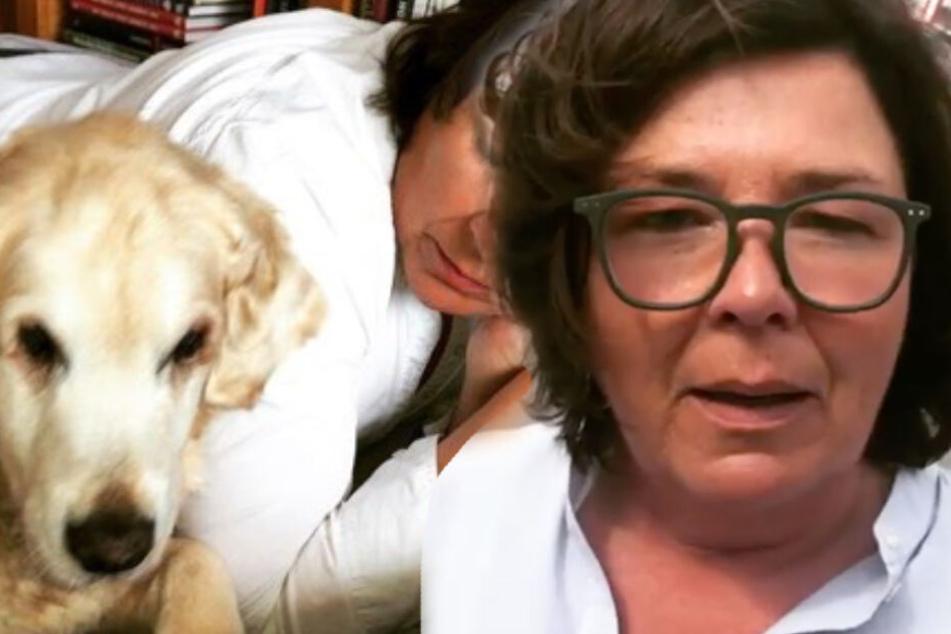 Vera Int-Veen beklagt den Tod ihrer Hündin Emma. (Bildmontage)