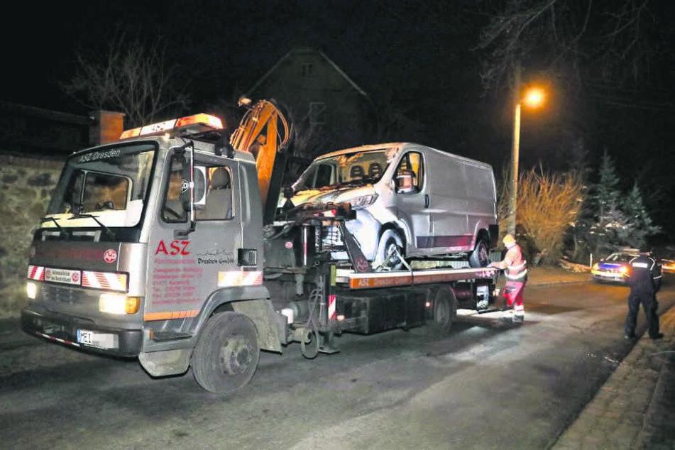 Beide gestohlenen Transporter fand die Polizei wieder.