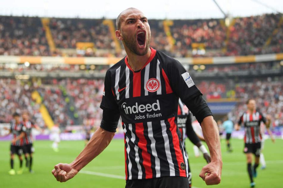 Bas Dost feierte sein Eintracht-Debüt direkt mit einem Treffer.