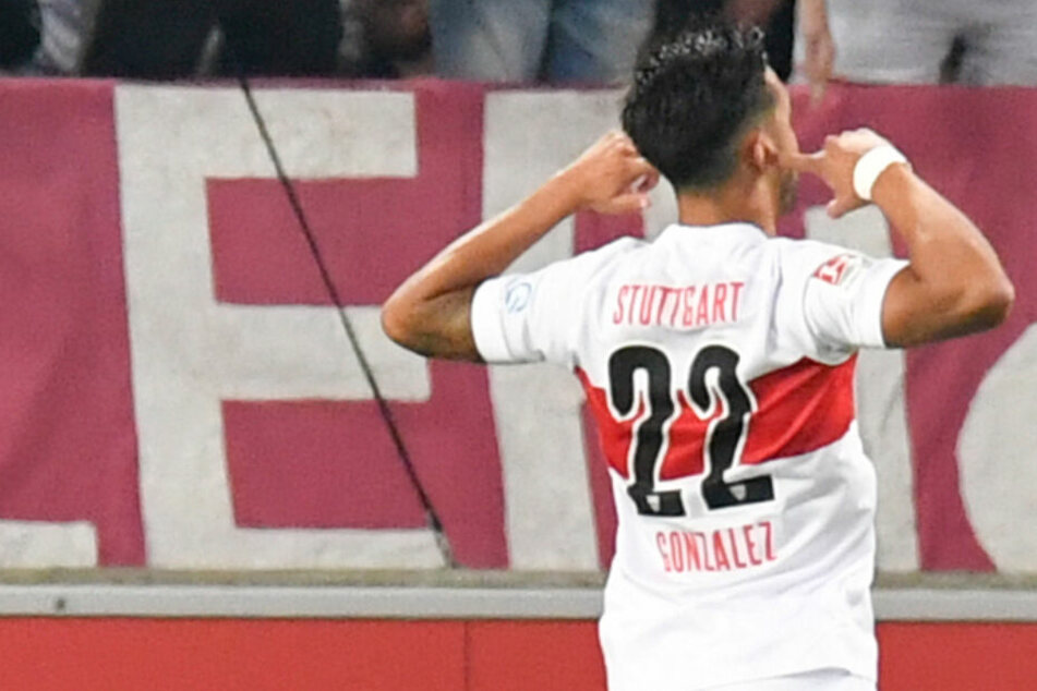 Feiert sein Tor: VfB-Stürmer Nicolas Gonzalez.