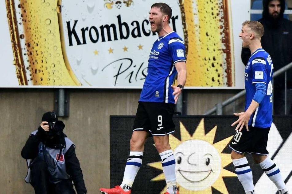 Wieder einmal schoss Top-Stürmer Fabian Klos die Arminen zum Sieg.
