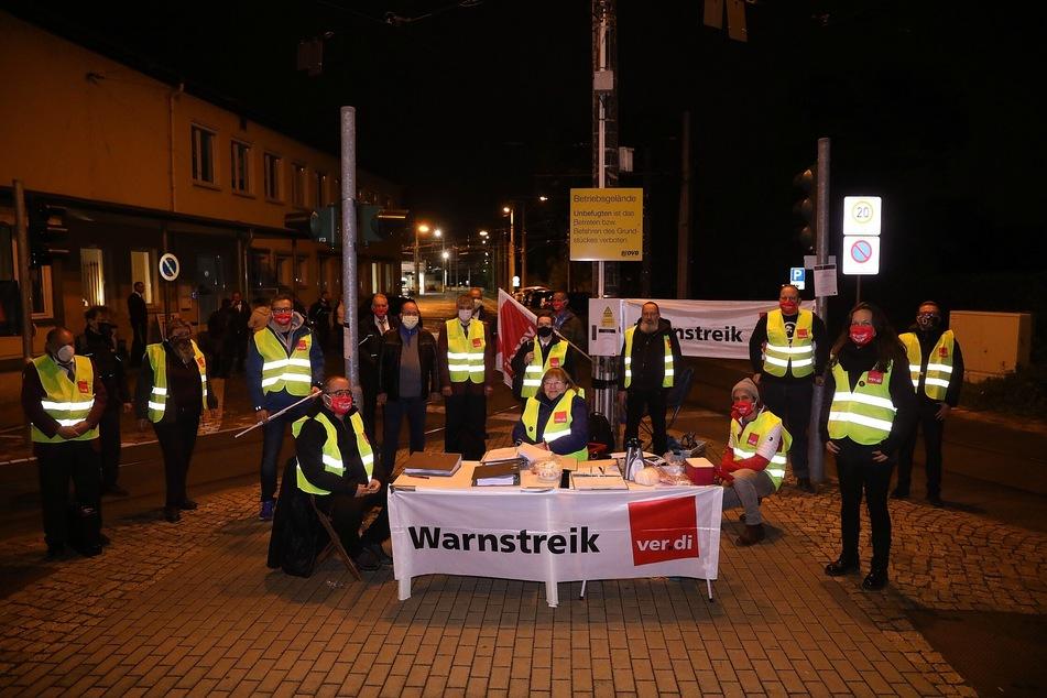 Am Dienstag begannen die Beschäftigen der Dresdner Verkehrsbetriebe ihren Streik.