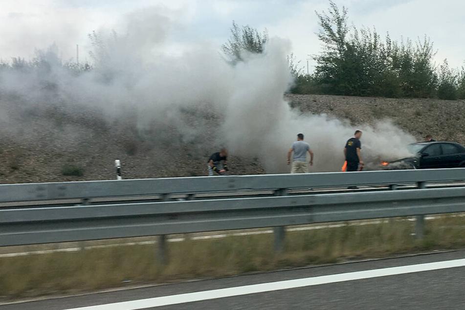 Chemnitz: Rauchwolke über Autobahn: A72 nach Brand gesperrt!