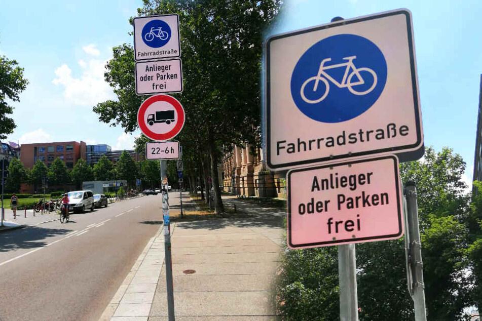 """Fünf Straßen im Musikerviertel """"gehören"""" nun den Fahrradfahrern."""