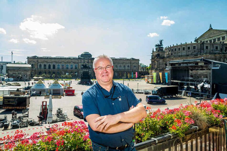 Frank Schröder (47) organisiert seit 18 Jahren das Stadtfest.