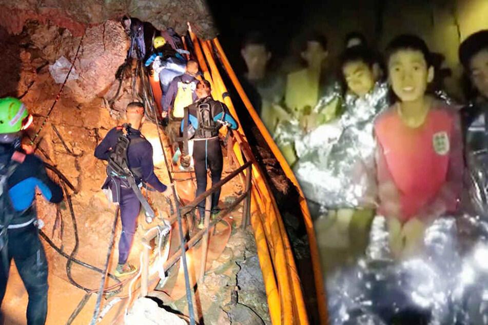 Thailand Jungs Höhle