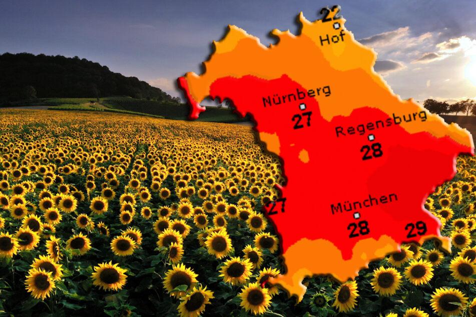 Viel Sonne zum Wochenstart in Bayern