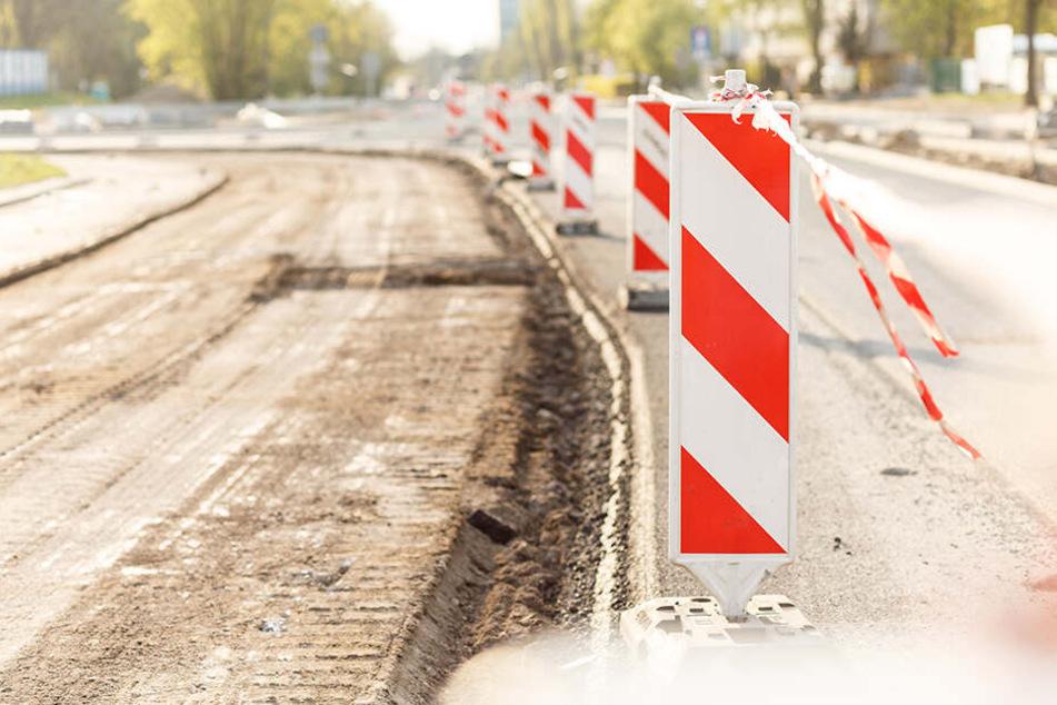 Die Bornaer Straße wird saniert und dafür voll gesperrt. (Symbolbild)